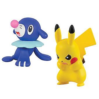 Pokemon Pikachu vs Popplio Action Figure Toy Set