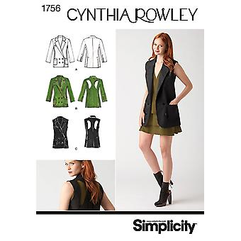 Misses' Jacket. Cynthia Rowley Collection-14-16-18-20-22