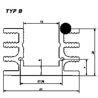 Heat sink 6.5 C/W (L x W x H) 37.5 x 32 x 20 mm TO 220, TO 126 Fischer Elektronik SK 76 37,5 SA