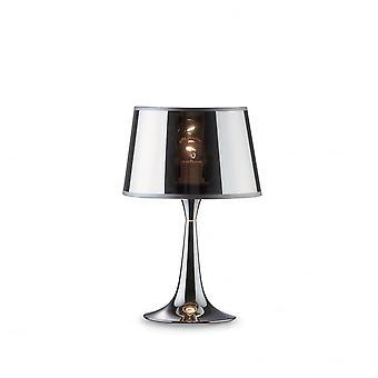 Ideal Lux London Chrom Tisch Lampe klein