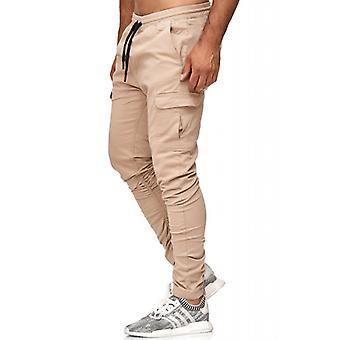 Tazzio fashion men's jogging pants beige