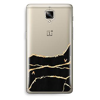 OnePlus 3 Transparent Case (Soft) - Gold marble