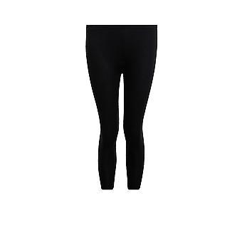 Children's Fashion Black Red Tartan Checked Plain Stretch Kid's Casual Leggings