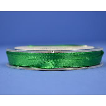 7mm Christmas Green Polyester Satin Craft Ribbon - 10m