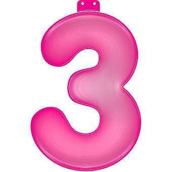 Oppblåsbare figur 3 rosa 35 cm