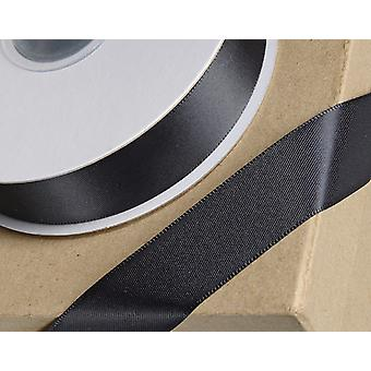 23mm Black Satin Ribbon for Crafts - 25m   Ribbons & Bows for Crafts