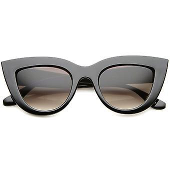 Womens Mod moda ousada margeadas 70s estilo Cat Eye Sunglasses 48mm