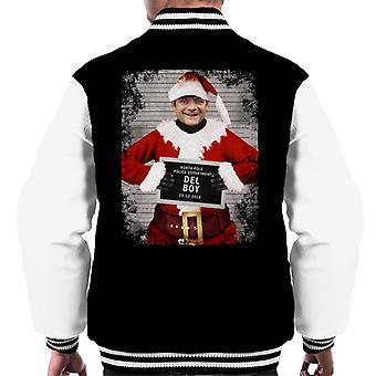 Christmas Mugshot Del Boy Men's Varsity Jacket