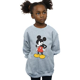Disney Girls Mickey Mouse Angry Look Down Sweatshirt