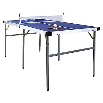 Charles Bentley Junior 1/2 Portable Indoor Folding Table Tennis Table (5Ft) - Bats, Balls & Net Included