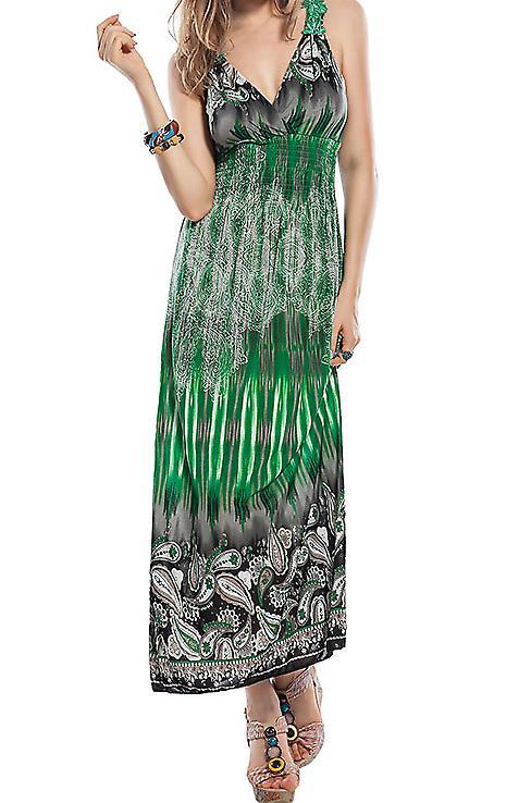 Waooh - mode - jurk lange kasjmier en juk borduurwerk motieven
