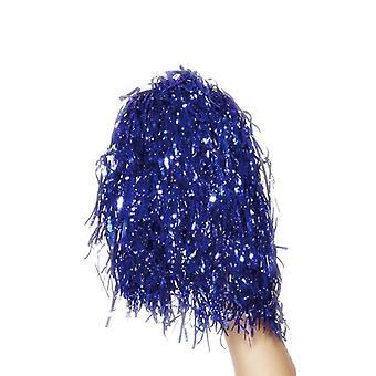 Pom Poms Metallic Blue.