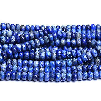 Strand 70+ Blue Lapis Lazuli 5 x 8mm Dyed Faceted Rondelle Beads CB31056