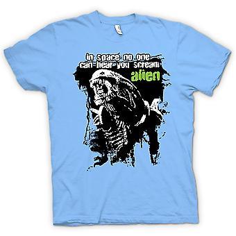 Koszulka męska - Alien Cię usłyszeć krzyk - Sci Fi