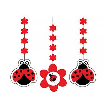 Creative Converting 7in Ladybird Hanging Cutouts (Pack Of 3)