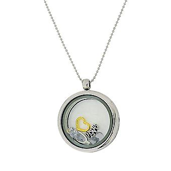 TOC Silvertone Floating Charms Locket Necklace 30