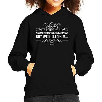Lamb Nobodys Perfect Quote Kid's Hooded Sweatshirt