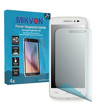 Alcatel One Touch Pop 2 (4.5) Screen Protector - Mikvon Armor Screen Protector (Retail Package with accessories)