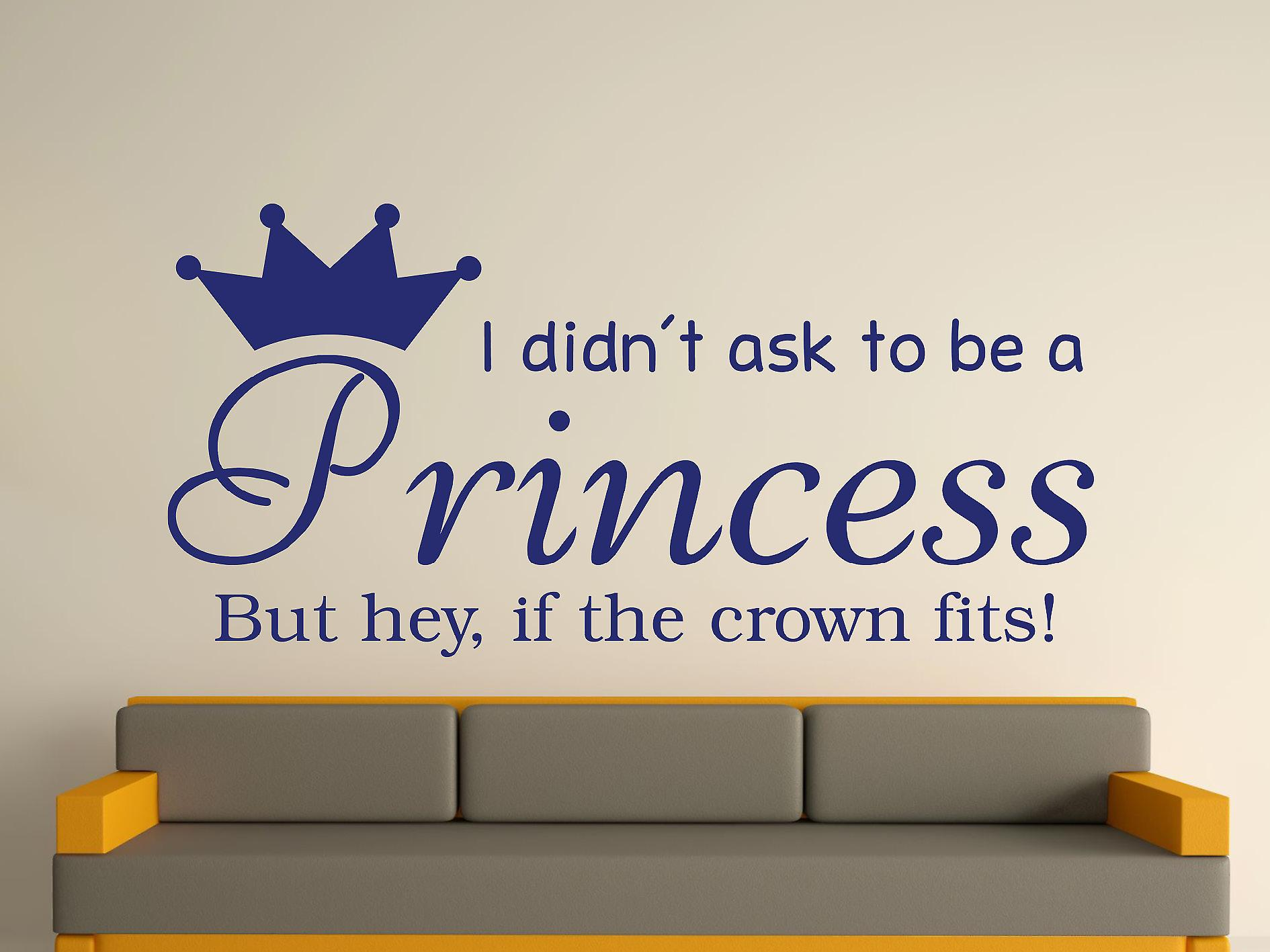 Being A Princess v2 Wall Art Sticker - Ultra Blue