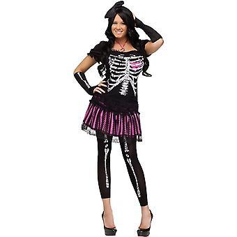 Cute Skeleton Adult Costume