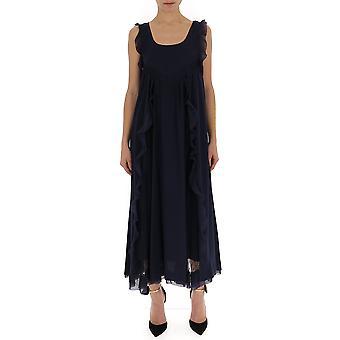 Red Valentino Blue Silk Dress