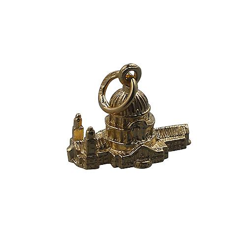 9ct Gold 11x17mm hollow St. Paul's Cathedral Pendant or Charm