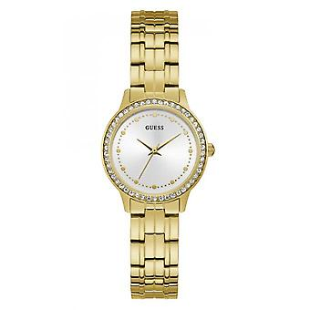 CHELSEA W1209L2 Guess watch - Watch steel gold with crystals woman
