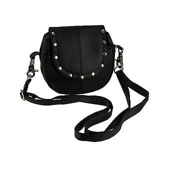 Giromy Samoni Genuine Leather Studded Biker Crossbody Bag
