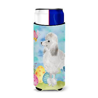 White Standard Poodle Easter Michelob Ultra Hugger for slim cans