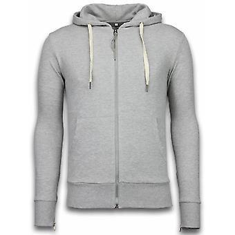 Casual Vest - Sweater Heren Side Zippers - Grijs
