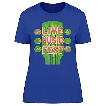 Live Music Fest Tee Women's -Image by Shutterstock