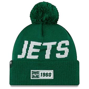 New era NFL New York Jets 2019 Sideline Road Sport Knit