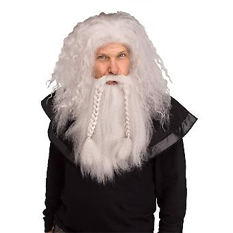 Viking Wig et Beard Grey