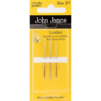 Leather Hand Needles Assorted 3 Pkg Jj180 37