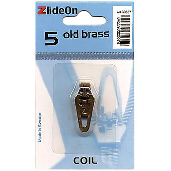 Zlideon Zipper Pull Replacements Coil 5 Old Brass 3055 7