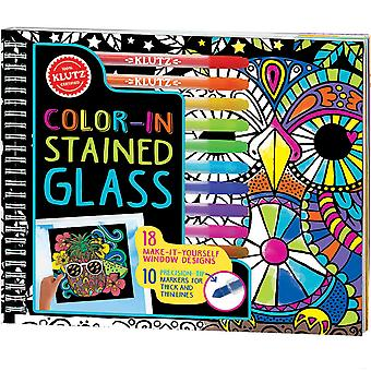 Color-In Stained Glass Book Kit- K593966