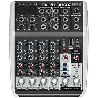 Mixing console Behringer XENYX QX602MP3 No. of channels:6 USB po