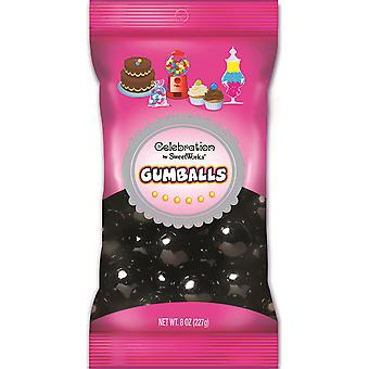 Celebrations By Sweetworks Gumballs 8oz-Black CG74551