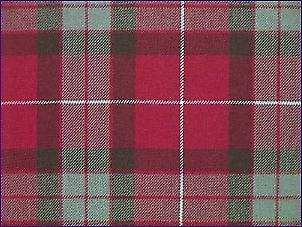 Fraser Red, Muted - Pure Wool Tartan