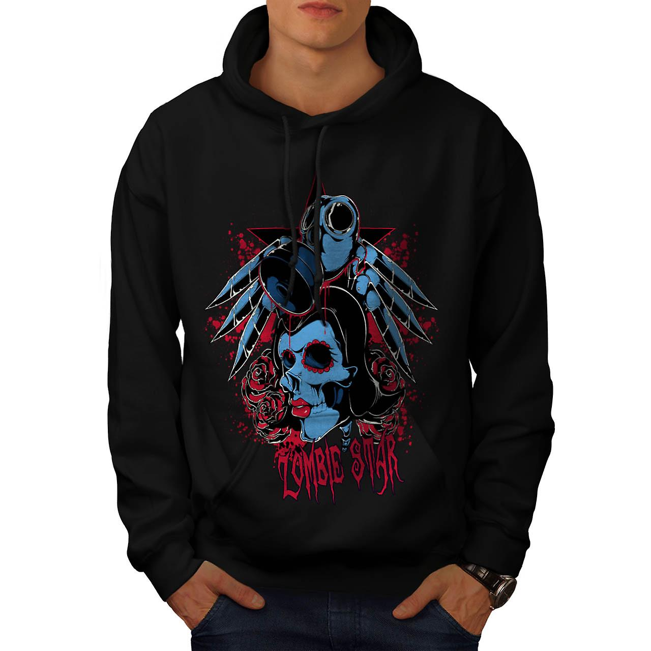 Evil Zombie Star Rise Nightmare Men Black Hoodie | Wellcoda