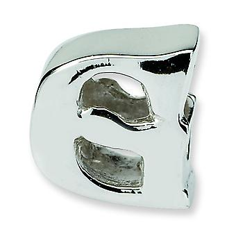 Sterling Silver Polished Reflections SimStars Letter G Bead Charm
