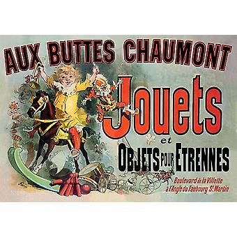 Aux Buttes Chaumont Jouets French Friends TV Poster Print