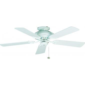 Ceiling Fan Mayfair white with pull cord 107 cm / 42
