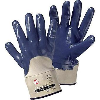 Leipold + Döhle 1451 Cross Nitrile gloves Nitrile rubber, partly covered Size 10
