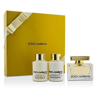 Dolce & Gabbana The One Coffret: Eau De Parfum Spray 75ml/2.5oz + Body Lotion 100ml/3.3oz + Shower Gel 100ml/3.3oz 3pcs