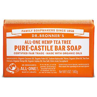 Dr Bronner's Tea Tree Pure-Castile Soap Bar