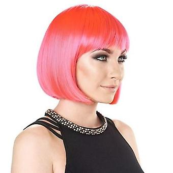 Party Wig - Short Bob - Electric Pink - Bright Colours