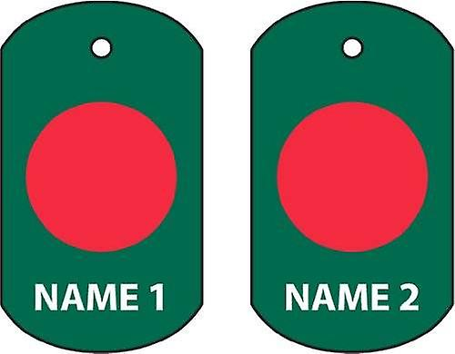 Personalised Bangladesh Dog Tag Car Air Freshener