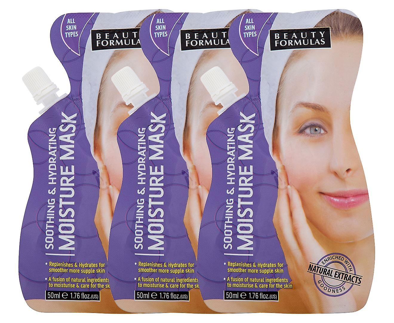 6 x fórmulas de belleza hidratante humedad máscara 6x50ml todo tipo de piel