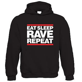 Vectorbomb, Eat Sleep Rave Repeat, Unisex Hoodie
